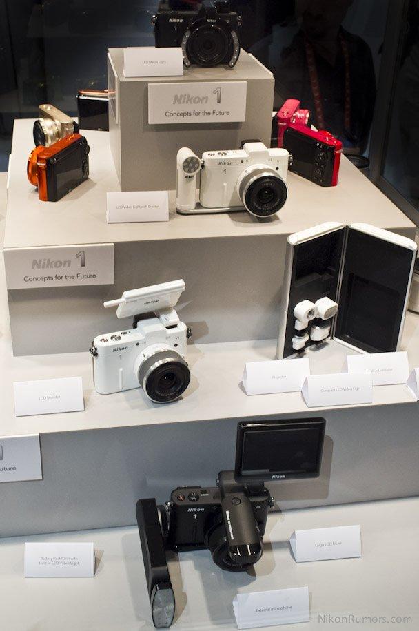 Konsep aksesoris Nikon 1 di CES 2012