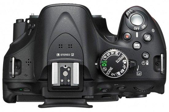 Nikon D5200 Tampak Atas