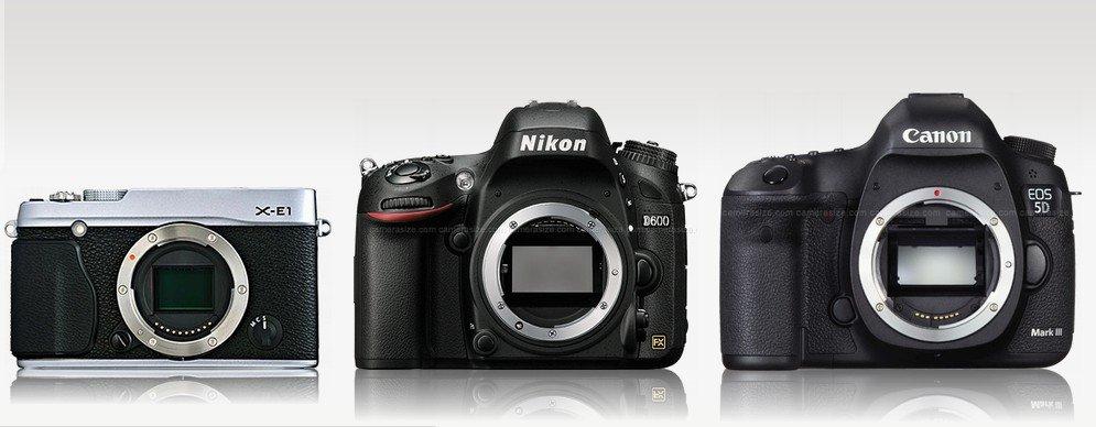 Fuji X-E1 vs Nikon D600 vs Canon 5D Mk III