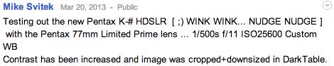 Pentax ful frame DSLR camera Pentax K 3 24MP full frame camera announcement on March 27th?