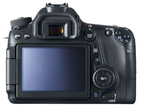 Canon EOS 70D (Tampak belakang)
