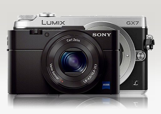 Perkiraaan Ukuran Panasonic GM1 Dibanding GX7, Image Credit CameraSize.com