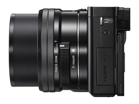 Kamera Sony A6000 (Samping), Image Credit : Sony