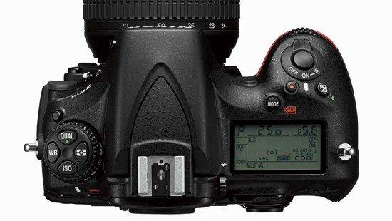 Nikon D810 (Top), Image Credit : Nikon