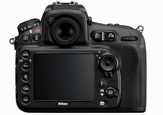 Nikon D810 (Back), Image Credit : Nikon