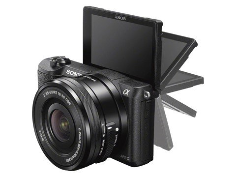 Sony A5100 flip LCD, Image Credit : Sony