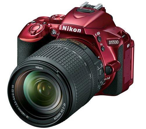 Kamera DSLR Nikon D5500 (Warna Merah), Image Credit : Nikon