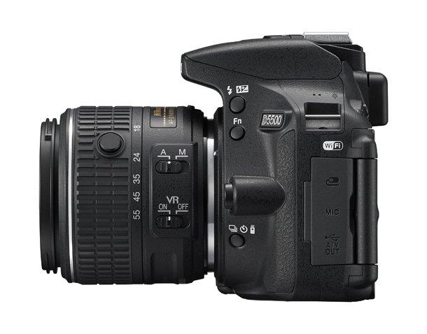 Kamera DSLR Nikon D5500 (Samping), Image Credit : Nikon