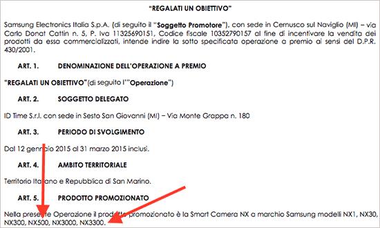 Bocoran informasi Samsung NX500 dan NX3300
