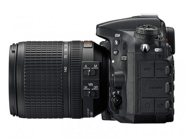 Kamera DSLR Nikon D7200 (Samping), Image Credit : Nikon