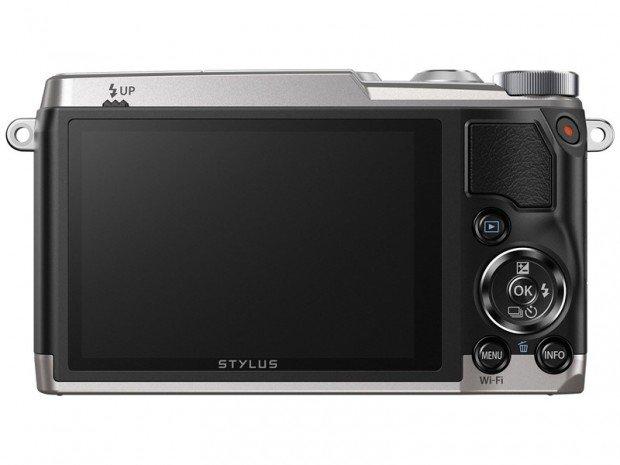 Kamera Kompak Olympus Stylus SH-2 (Belakang), Image Credit : Olympus