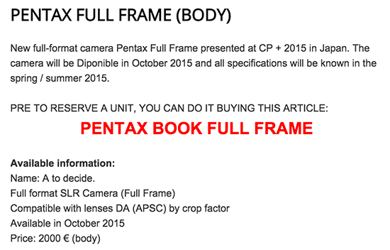 Pentax-full-frame-DSLR-camera-shipping-and-price