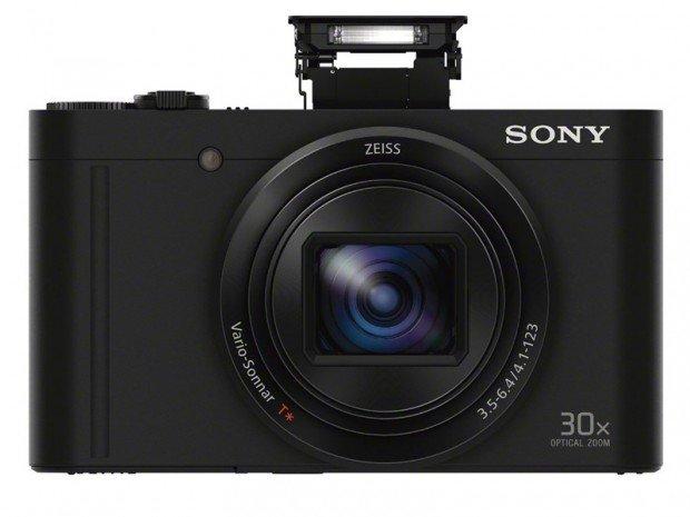 Sony WX500 (Depan, Popup Flash), Image Credit : Sony