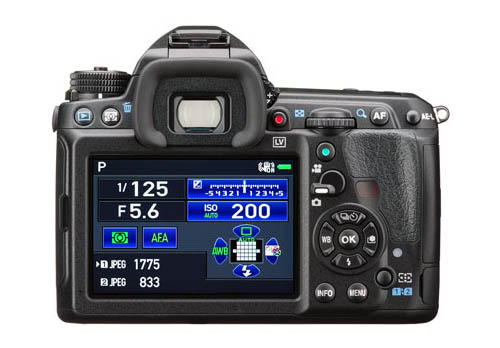 Kamera DSLR Pentax K-3 II (Belakang)