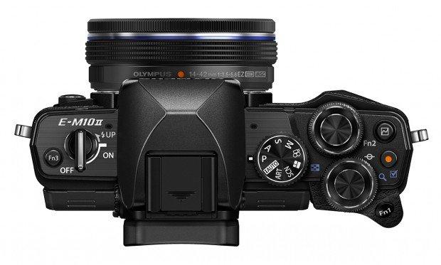 Kamera Olympus E-M10 Mark II Hitam (Atas), Image Credit : Olympus