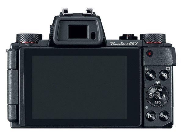 Canon Powershot G5  X (Belakang, EVF), Image Credit : Canon