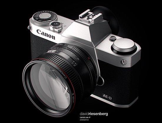 Konsep desain kamera mirrorless Canon