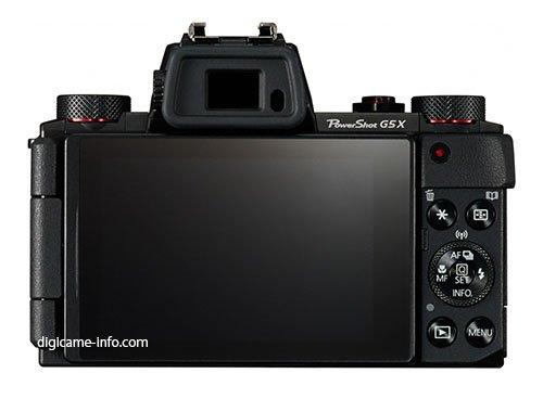 Kamera Canon Powershot G5 X (Belakang)