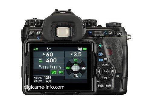 Kamera Pentax K-1 (Belakang)