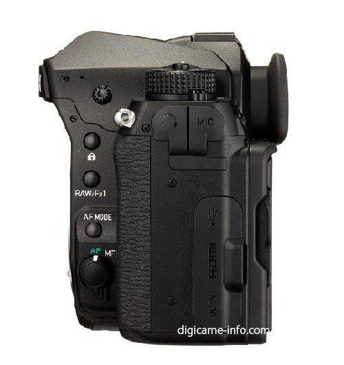 Kamera Pentax K-1 (Samping Kiri)