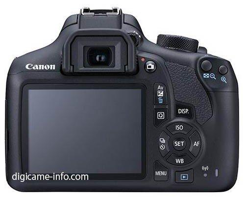 Kamera DSLR Canon 1300D Terbaru (Belakang)