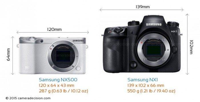 Samsung NX500 dan NX1