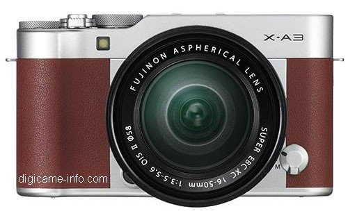 Kamera Terbaru Fujifilm X-A3 (Coklat)