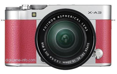 Kamera Terbaru Fujifilm X-A3 (Pink)