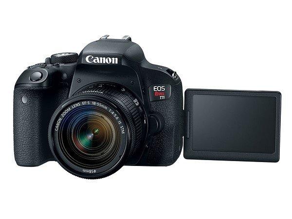 Kamera Terbaru Canon 800D / T7i (LCD diputar), Image Credit: Canon