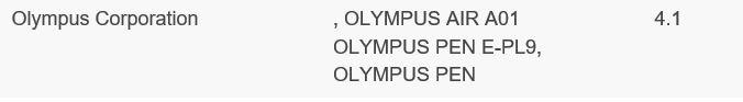 Daftar Olympus E-PL9